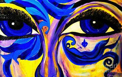 Painting - Blue Eyes by Saundra Myles