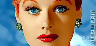 Blue Eyes Art Print by Scott Ashgate