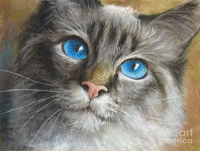 Blue Eyes Art Print by Tobiasz Stefaniak