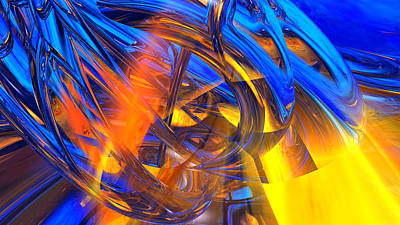 Digital Art - blue face punk B 34 by Zac AlleyWalker Lowing