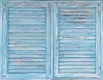 Photograph - Blue Faded Shutter Of Aruba IIi by David Letts