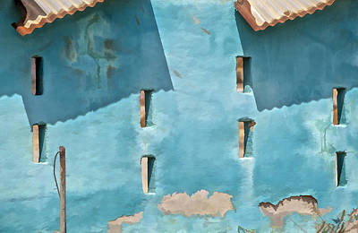 Photograph - Blue Faded Wall Of Aruba IIi by David Letts