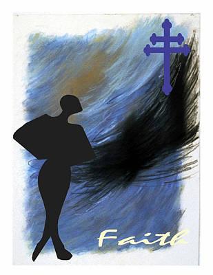 Blue Faith Art Print by Lynn Darnelle