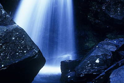 Art Print featuring the photograph Blue Falls by Rodney Lee Williams