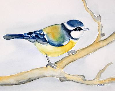 Blue Finch Art Print by Inese Poga
