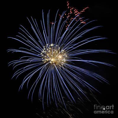 Photograph - Blue Fireworks by Ronald Grogan
