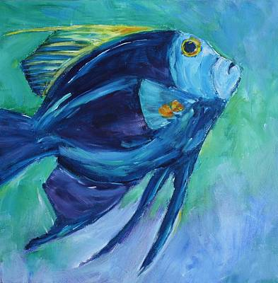 Painting - Blue Fish by Tara Moorman