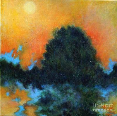 Blue Flame Art Print
