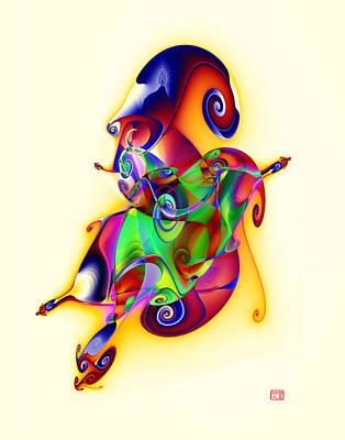 Blue Flame In A Maze Art Print