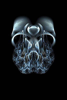 Digital Art - Blue Flame Skull by Owlspook
