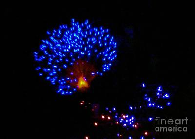 Photograph - Blue Flash Fireworks by Janette Boyd