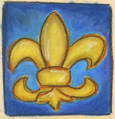 Pastel - Blue Fleur De Lis by Katie Sasser