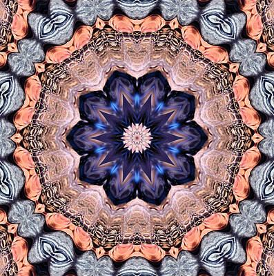 Photograph - Blue Flora Mandala by Kristin Elmquist