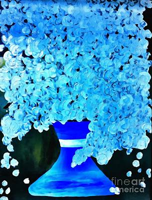Painting - Blue Floral Bounty Impression by Saundra Myles