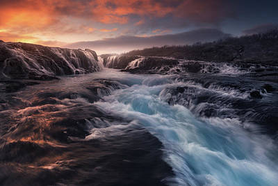 Power Photograph - Blue Flow by Carlos F. Turienzo