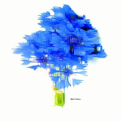 Digital Art - Blue Flower Bouquet by Rafael Salazar