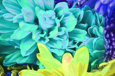 Blue Flower Art Print by LLaura Burge