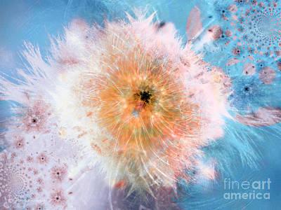 Goddess Digital Art Mixed Media - Blue Flower Power by Indira Emmerlich