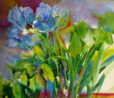 Painting - Blue Flowers by Donna Acheson-Juillet