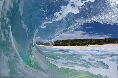 Ocean Photograph - Blue Foam by Sean Davey
