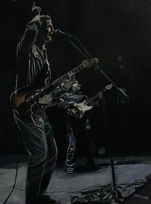 Blue For The Blues Art Print by Patricio Lazen