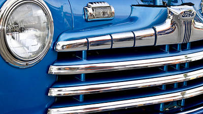 Photograph - Blue Ford Classic Grill by Carolyn Marshall