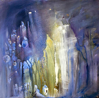 Blue Forest  Art Print by Tanya Byrd