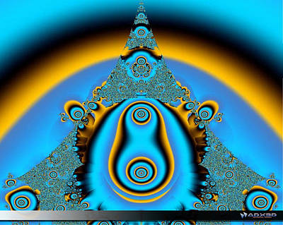 Art Print featuring the digital art Blue Fractal 01 by A Dx