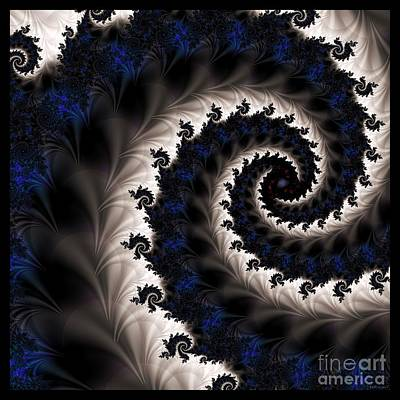 Blue Fractal Path Art Print by Elizabeth McTaggart