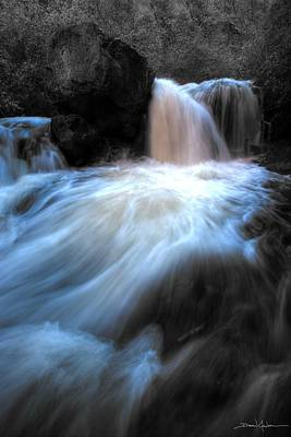 Photograph - Blue Fringe Falls by David Andersen