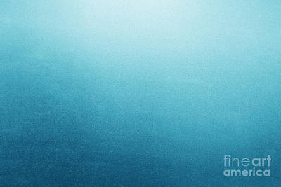 Backlight Photograph - Blue Frosted Glass Background by Michal Bednarek