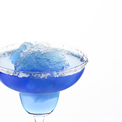 Slushy Photograph - Blue Frozen Iceberg Margarita by Erin Cadigan