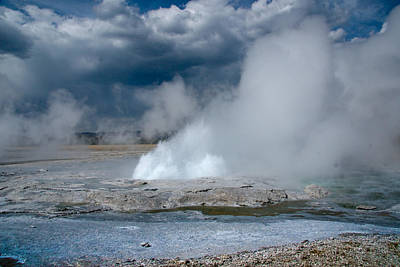 Photograph - Blue Fumerole by Roger Mullenhour