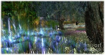 Blue Garden Art Print by Susanne Baumann