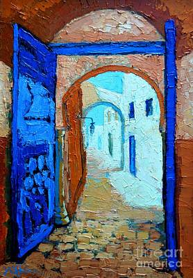 Art Print featuring the painting Blue Gate by Ana Maria Edulescu