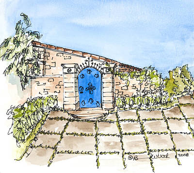 Bright Appearance Painting - Blue Gate by Barbara Wirth