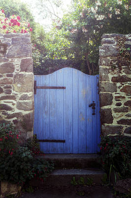 Gate Photograph - Blue Gate by Joana Kruse
