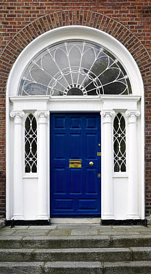 Photograph - Blue Georgian Door - Dublin - Ireland by Jane McIlroy