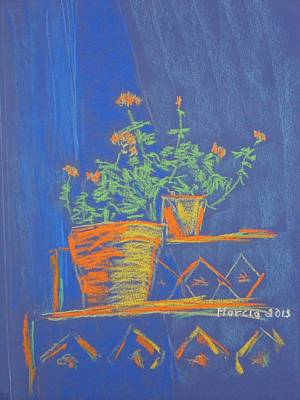 Blue Geranium Art Print by Marcia Meade