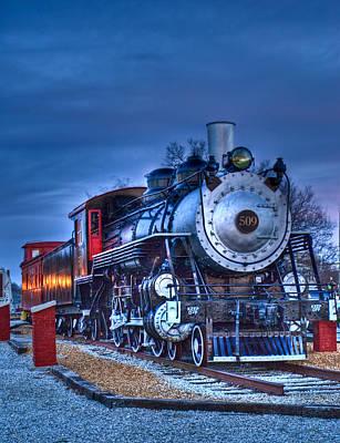 Grate Photograph - Blue Ghost - Engine 509 by Douglas Barnett