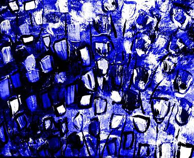 Nurse Painting - Blue Glass by James and Donna Daugherty