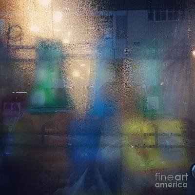 Photograph - Blue Glass by Miriam Danar
