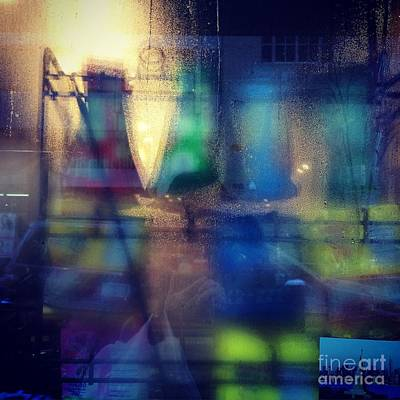 Photograph - Blue Glass - Variation by Miriam Danar