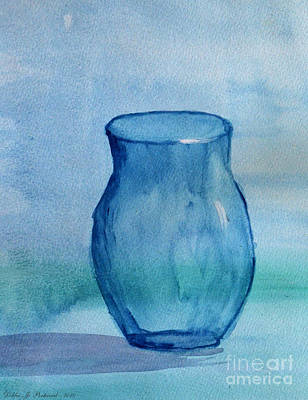 Painting - Blue Glass Vase by Debbie Portwood