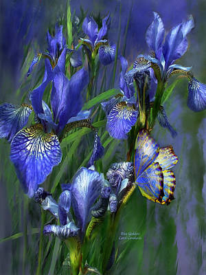Blue Goddess Art Print by Carol Cavalaris