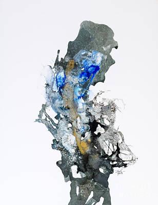 Blue-gold 04 Art Print by David W Coffin