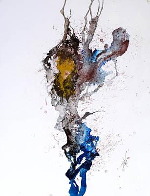 Blue-gold 06 Art Print by David W Coffin