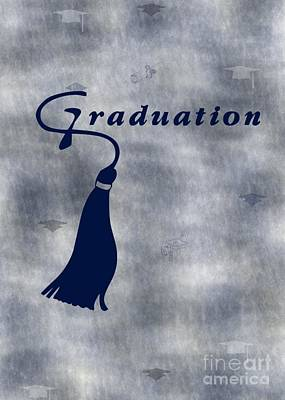 Digital Art - Blue Graduation by JH Designs