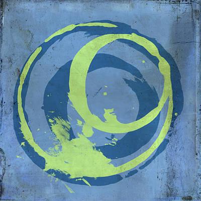 Blue Green 7 Art Print by Julie Niemela