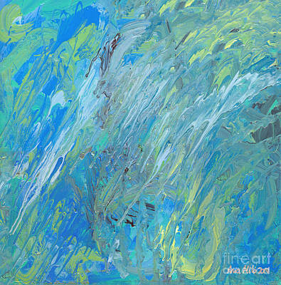 Painting - Blue Green Abstract by Ania M Milo